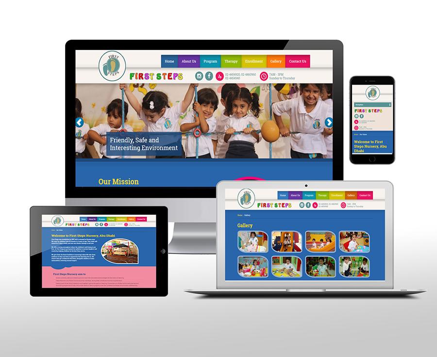 First Steps Nurseries Website